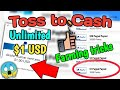 Toss To Cash Farming Tricks, $1 In Just 10 Mins😏