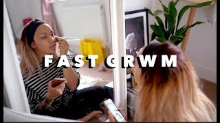 A FAST GRWM! OUTFIT, MAKEUP, NAILS & GO | ad