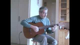 Blowing in the wind - easy guitar.