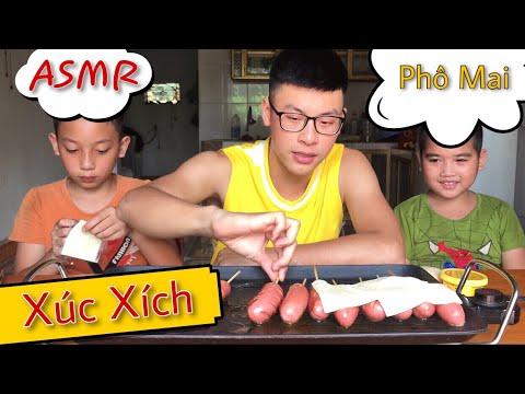 [ASMR] Lần Đầu Ăn Xúc Xích Phô Mai Khổng Lồ (Eating the giant sausage cheese)