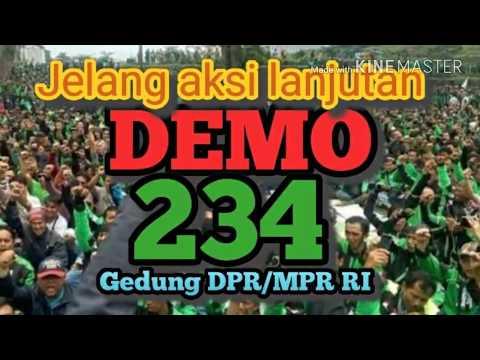 Detik-detik keberangkatan jelang aksi demo ojek online 234 di DPR/MPR RI