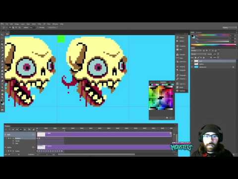 Animating a giant flying skull boss - Halloween Forever