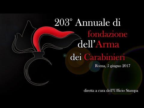 Celebrazione del 203° anniversario di fondazione dell'Arma dei Carabinieri