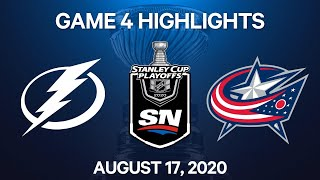 NHL Highlights | 1st Round, Game 4: Lightning vs. Blue Jackets – Aug. 17, 2020