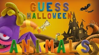 GUESS ANIMALS - 👻 HALLOWEEN 🎃 | Learn ABC and animals easily | talking abc