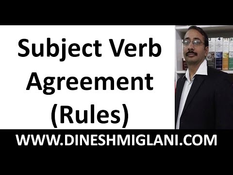 Best Subject Verb Agreement Rules ( English Grammar) by Team