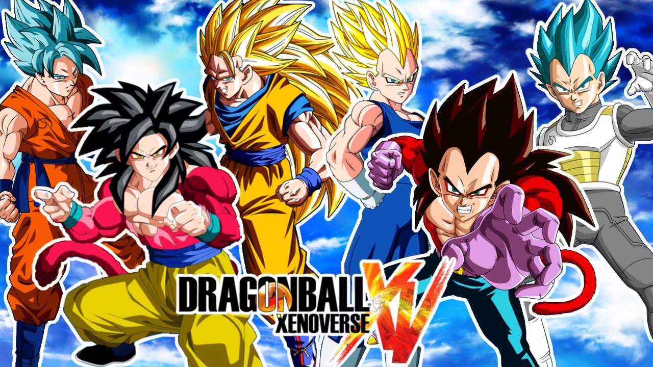 Dragon ball xenoverse goku ssgss ssj4 y ssj3 vs vegeta - Dragon ball xenoverse ss4 vegeta ...