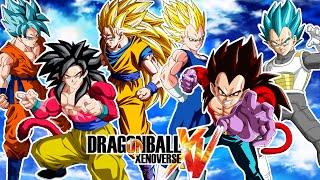 Dragon ball xenoverse : goku ssgss , ssj4 y ssj3 vs vegeta ssgss , ssj4 y ss2 - rivales !