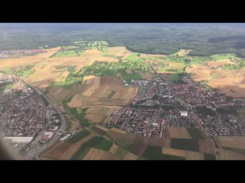 Landing at Stuttgart Airport, Stuttgart, Baden-Württemberg, Germany - 6th August, 2017
