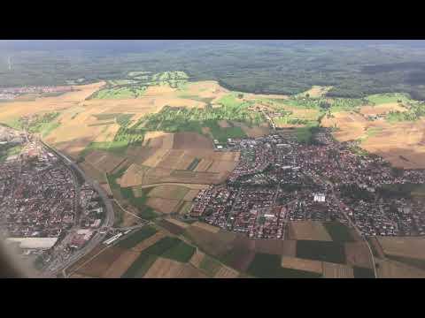 Landing At Stuttgart Airport, Stuttgart, Baden-Württemberg, Germany - 6th August, 2017