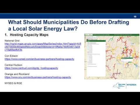 Model Solar Energy Local Law Webinar