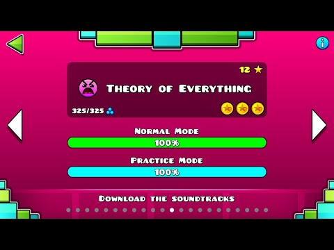 Geometry Dash 1.5 - Theory Of Everything - COMPLETE