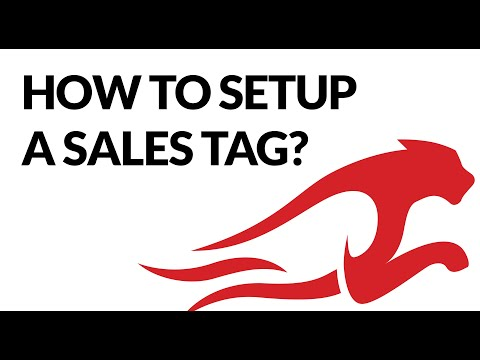How To Setup A Product Sales Tag