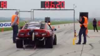 1/4 mile Hoskovice  TSUNAMI  Opel Calibra Mickey Garage