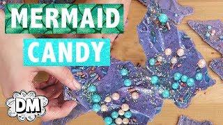 DIY Mermaid Candy Chocolate Bark!   Alyssa Vlogs