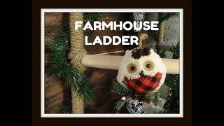 DIY Dollar Tree Farmhouse Ladder