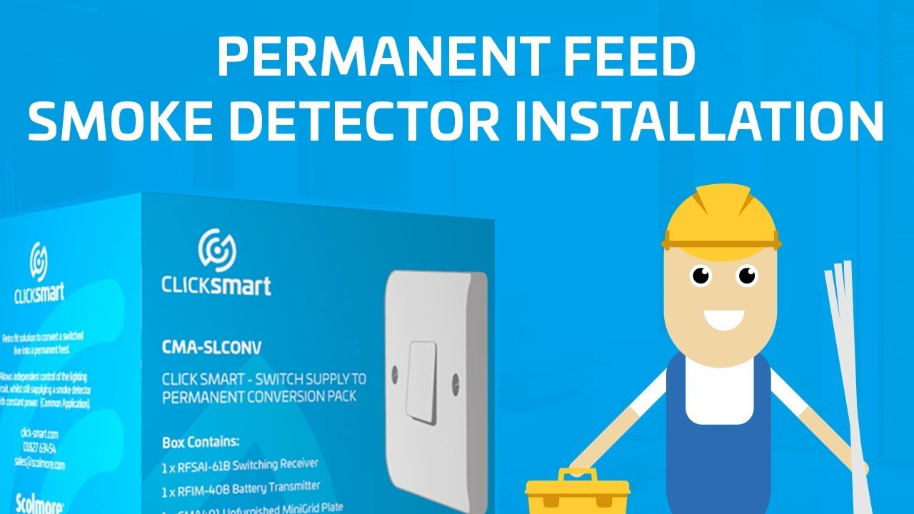 Click Smart Smoke Detector Installation - YouTube