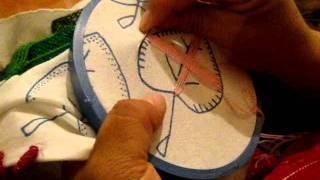 marimur 95 /2)  bordado fantasoa hoja pera