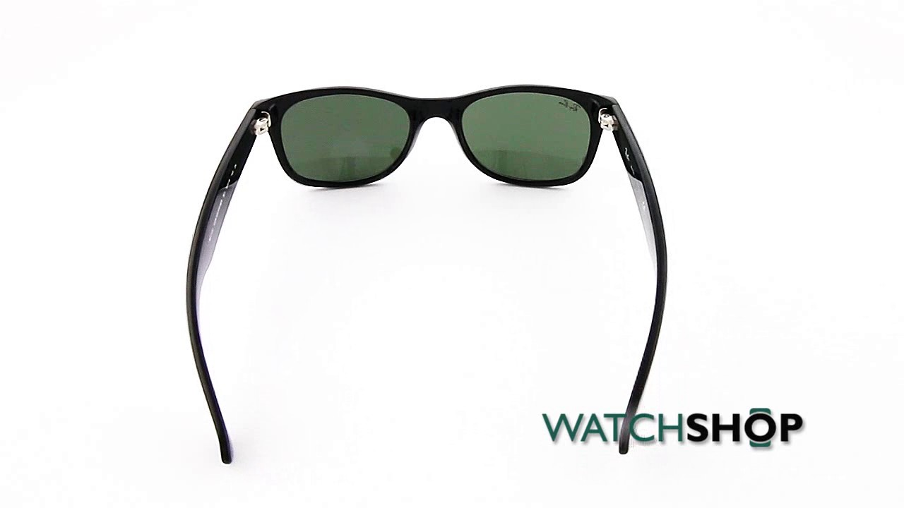 e6a808beff Ray-Ban Men s New Wayfarer Classic Sunglasses (RB2132-901-52) - YouTube