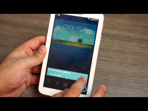 Samsung Galaxy Tab 3 7 inch T211 with 3G Unboxing and Quick Review