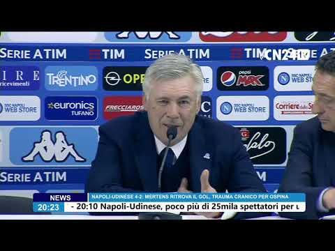 Napoli-Udinese 4-2, Carlo Ancelotti in conferenza stampa post-partita