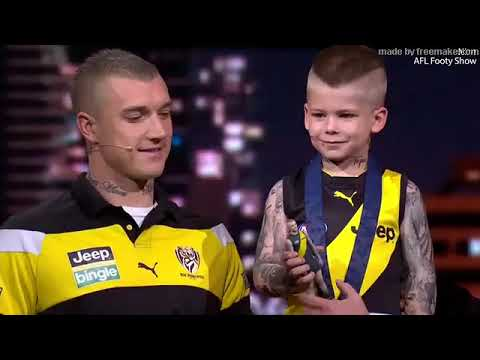Mini Dustin Martin steals the show at final Footy Show of the year   Daily Mail Online