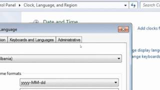 How to change windows 7 region and language to Alsatian ( France )