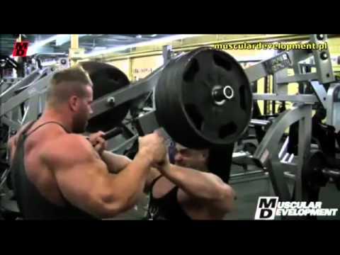 Jay Cutler & Evan Centopani training CHEST