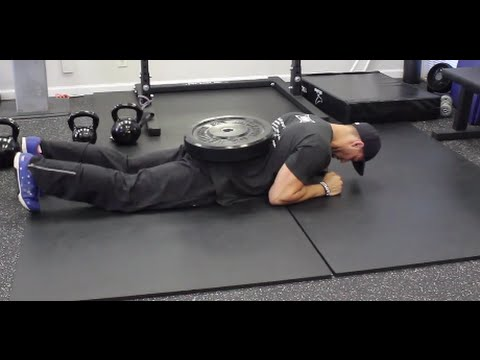 How To do a Weighted Plank by yourself