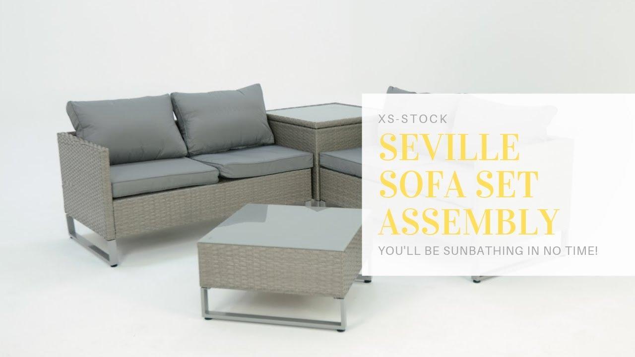 Seville Garden Sofa Set Assembly