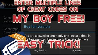 EFFECTIVE TRICK for Adding Multiple-liner Cheat Codes: My Boy Free: