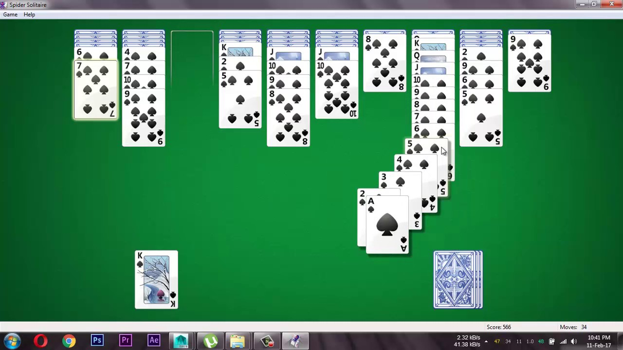 Spider Solitaire Windows