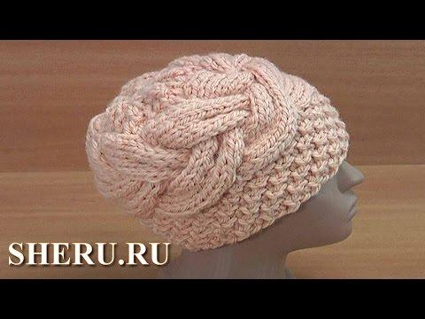 Вязание спицами шапки из толстой пряжи для женщин