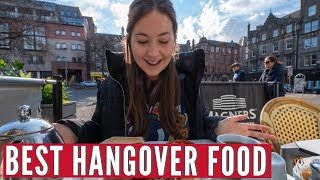 Perfect Hangover Food | Scottish Breakfast & Yorkshire Pudding Wrap | Hostel Travel Series Part 4