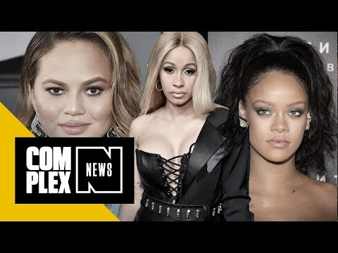 Chrissy Teigen Responds to Cardi B Wanting a Threesome With Her and Rihanna