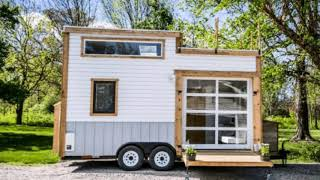 Gorgeous And Trendy! 200 Square Foot Tiny House For Sale With A Copper Fridge!