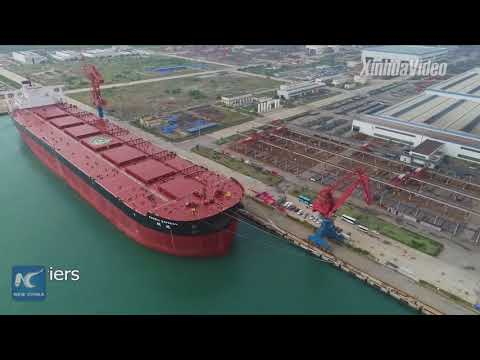 As big as 3 football fields! China builds giant ore carrier
