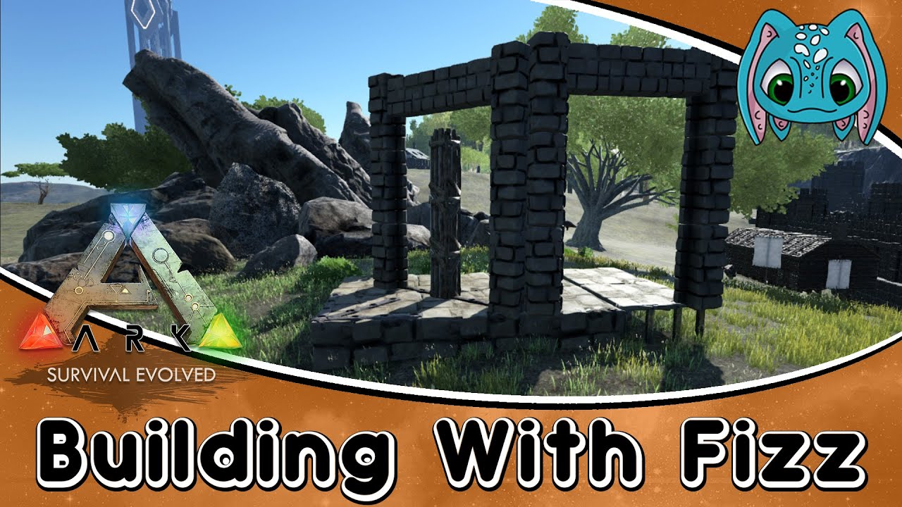 Ark Survival Evolved Building W Fizz How To Use Fence Foundation