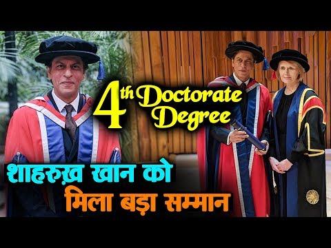 Shahrukh Khan को मिला फिर बड़ा सम्मान, मिली 4th Doctorate Degree | University Of Law | London