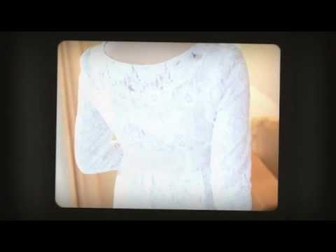 ชุดเดรสลายลูกไม้สีขาว เสื้อผ้าแฟชั่นเกาหลี