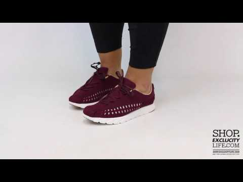 Women's Nike Mayfly Woven Night Maroon On Feet Video At Exclucity