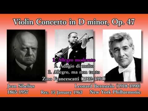 Sibelius: Violin Concerto, Francescatti & Bernstein (1963) シベリウス ヴァイオリン協奏曲 フランチェスカッティ