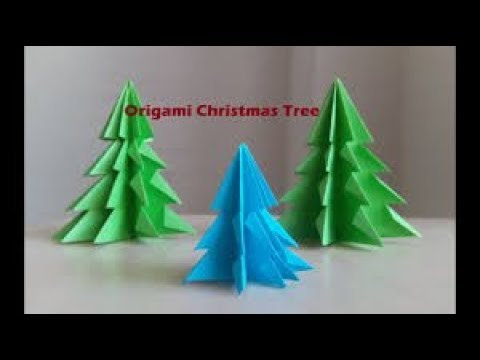 Origami Tree How To Make Paper Christmas Branch