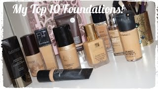 My Top 10 Foundations! - Medium/Tan Pakistani Indian skintone
