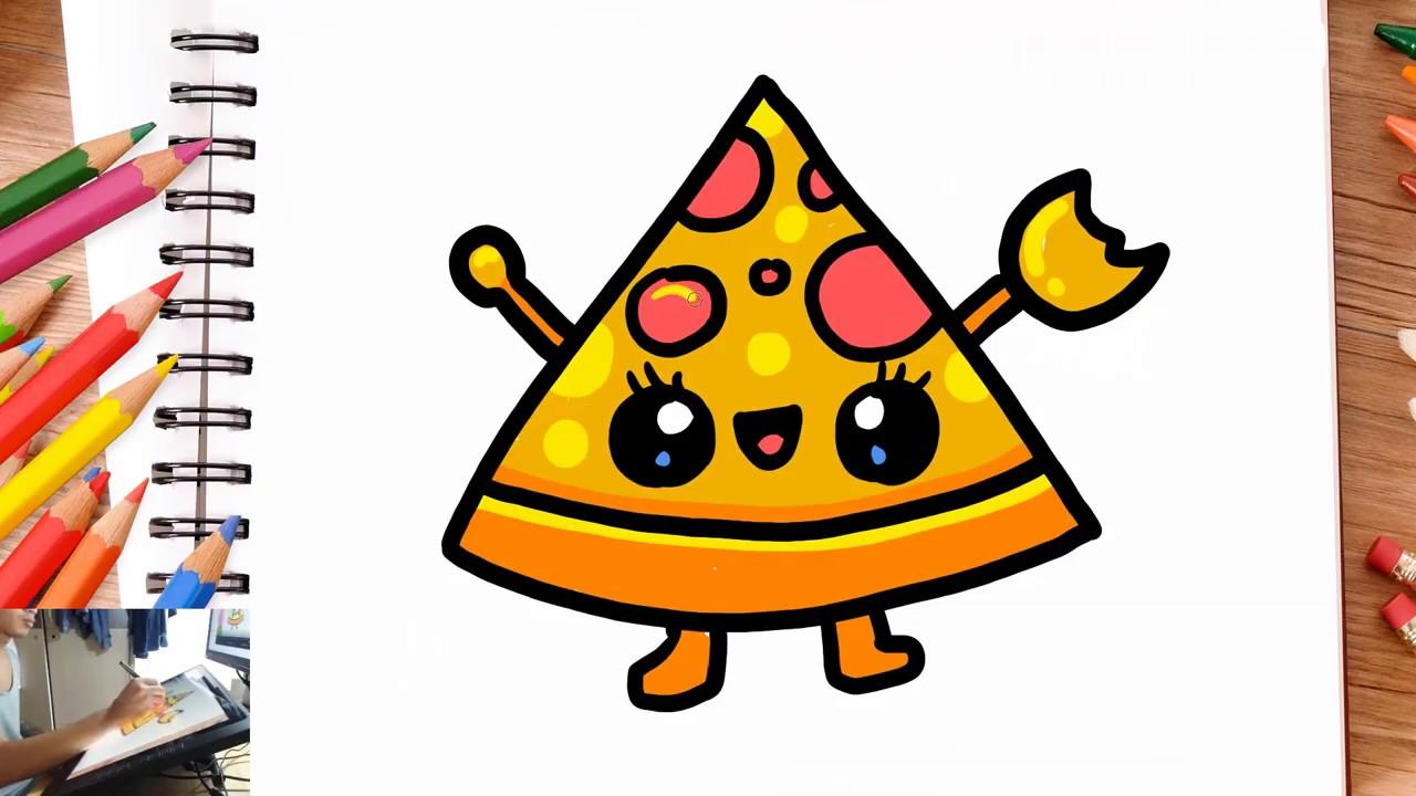 Comment Dessiner Une Pizza Kawaii Dessin Facile Youtube