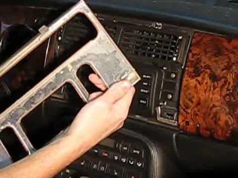Jaguar Xk8 Dashboard Nav Unit Trim Removal Youtube