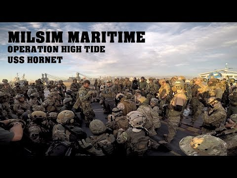 INTENSE AIRSOFT BATTLE on an Aircraft Carrier! Milsim Maritime: Operation High Tide (USS Hornet)