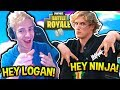 NINJA REACTS TO LOGAN PAUL STREAMING FORTNITE! | Fortnite FUNNY & SAVAGE Moments!