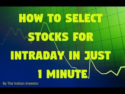 How To Select Best Intraday Trading Stocks in Just 1 Minute