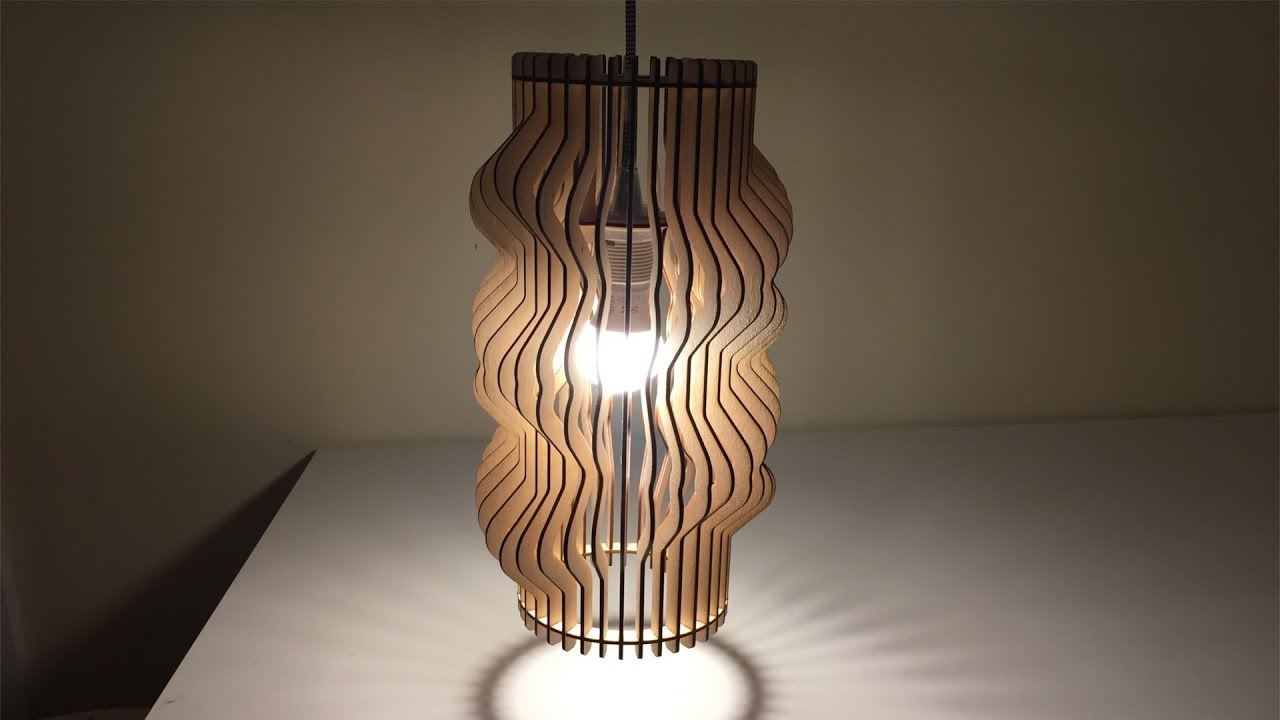 Laser Cut Twisted Lampshade 01 Youtube